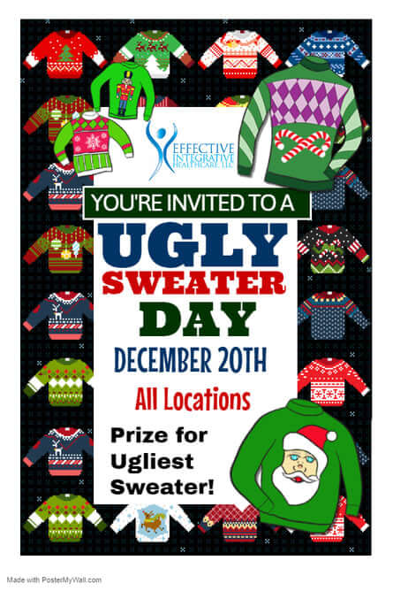 Ugly Sweater Day Event with Effective Integrative Healthcare